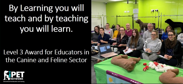 iPET Network are excited to announce our new - Level 3 Award for Educators in the Canine and Feline Sector.